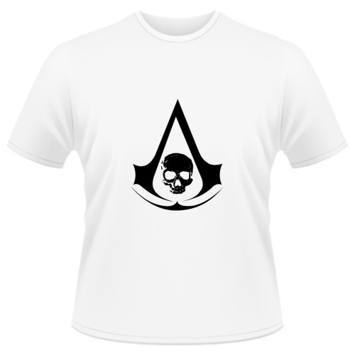Tricou Assassins Creed 4 Black Flag - LOGO
