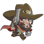 Tricou Overwatch McCree Cute - SPRAY